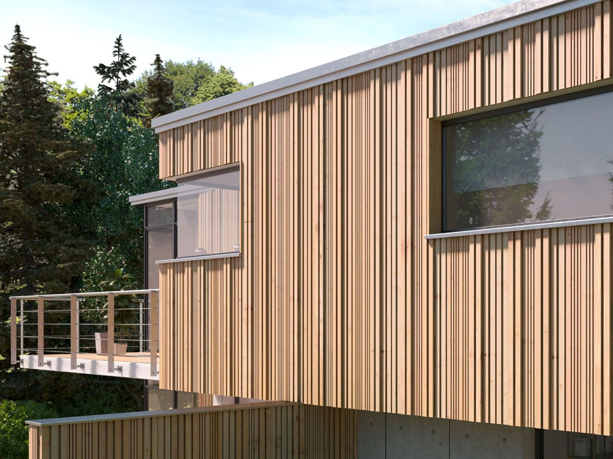 Holzlamellenfassade Konstruktion fassade heizung sanitär solar bedachung hubert plenter aus münster